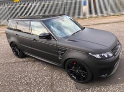 Matt Black Range Rover SVR