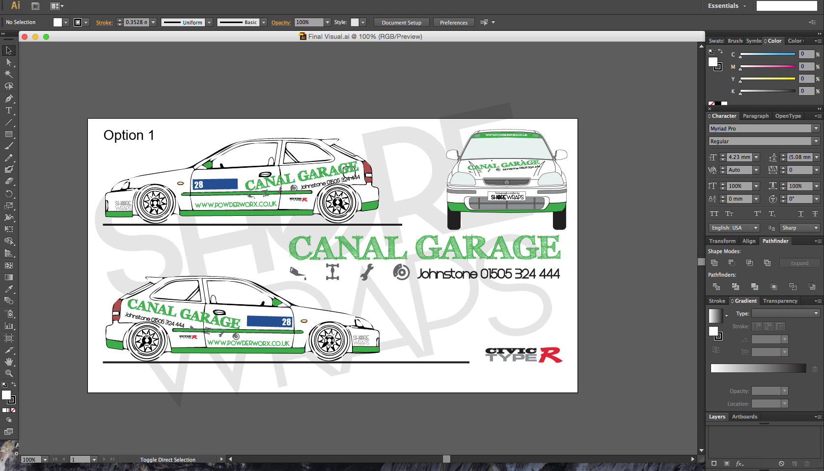 Canal Garage Rally Car