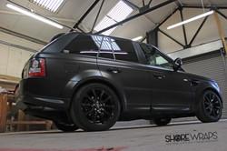 Satin Black Range Rover Side