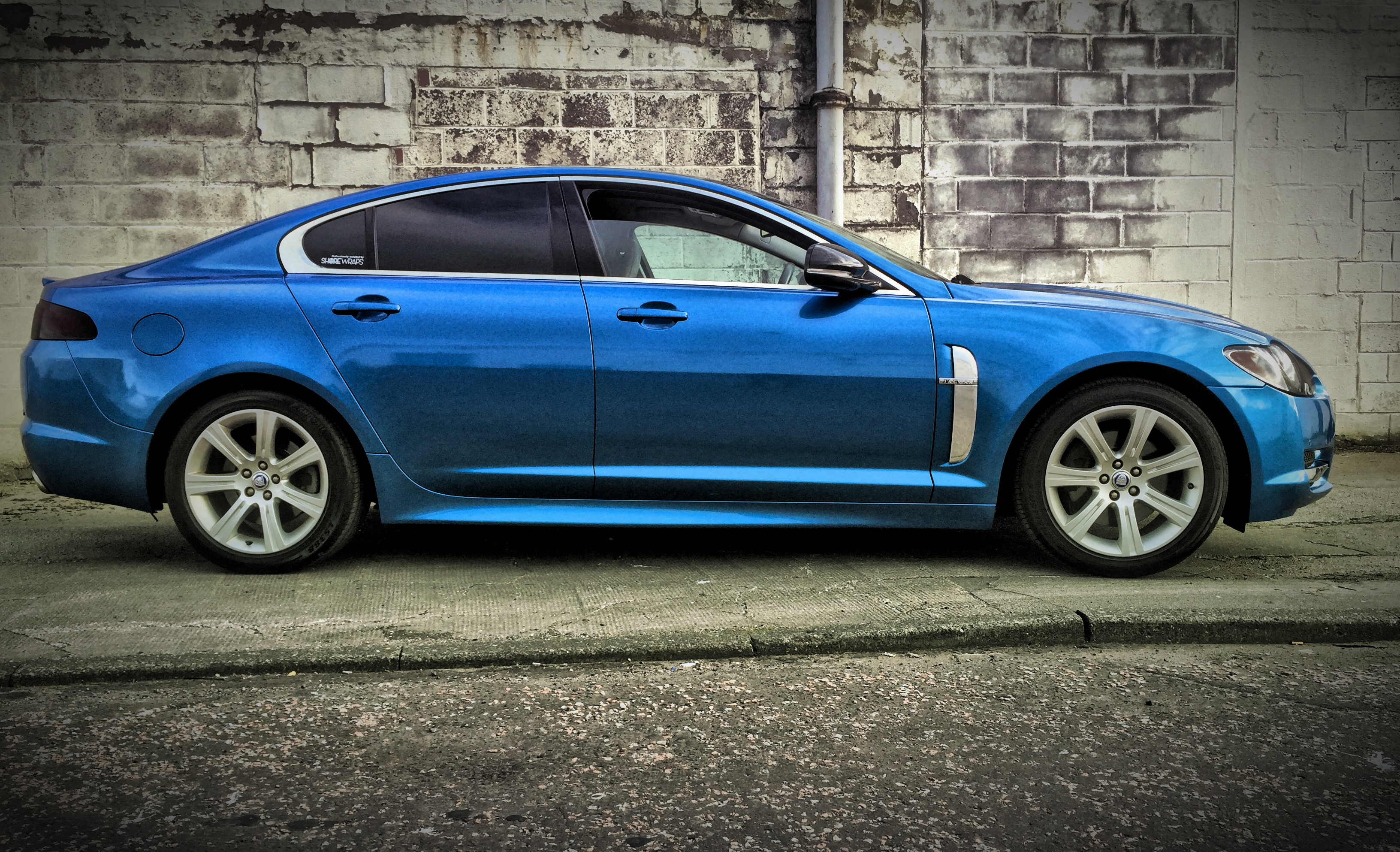 Jaguar XF Blue Wrap