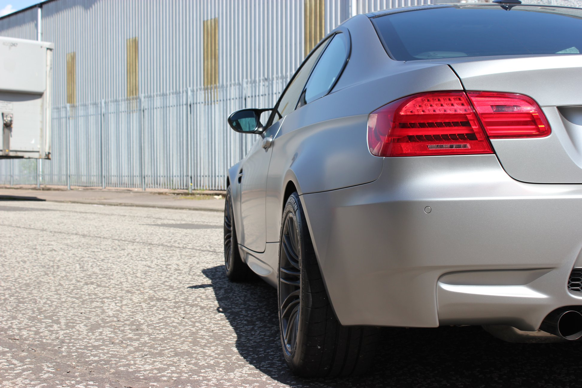 BMW M3 Satin Silver rear