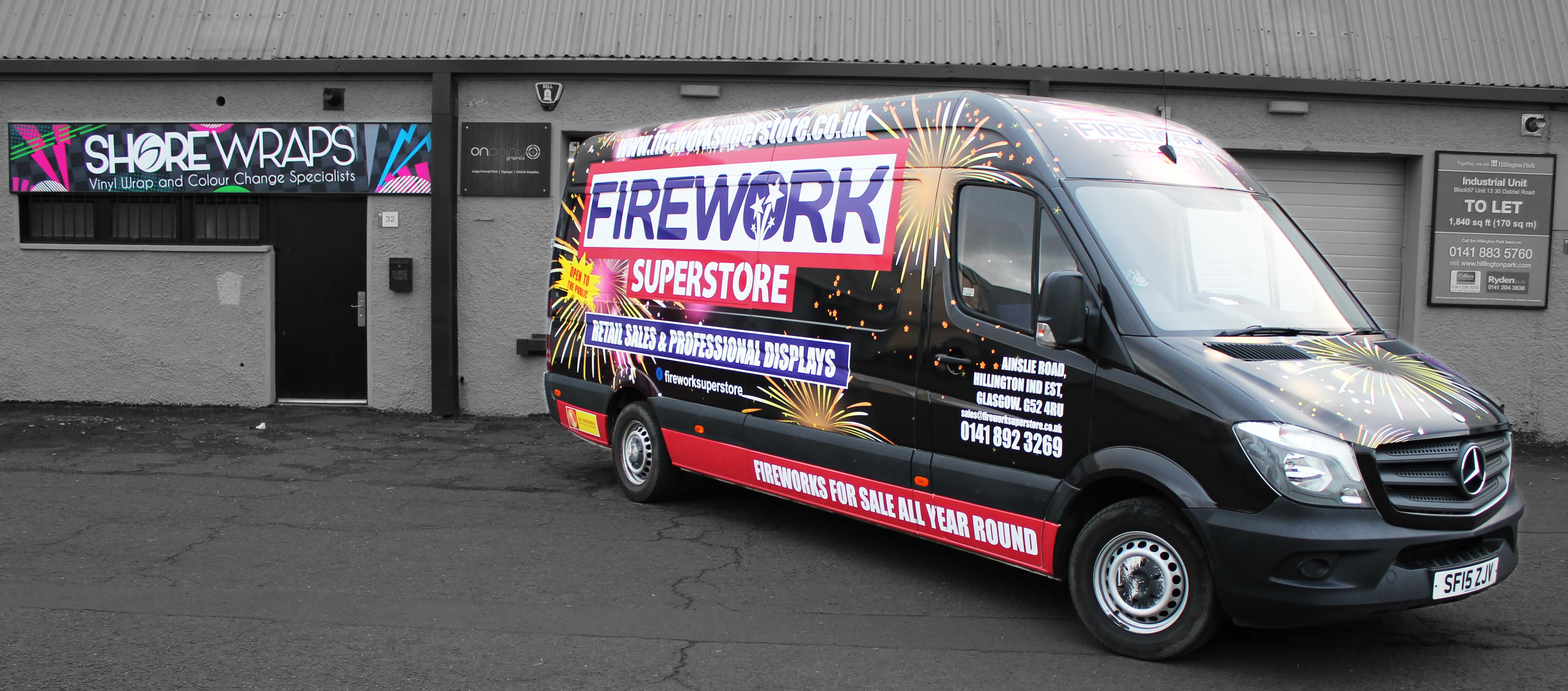 Firework Van Wrap