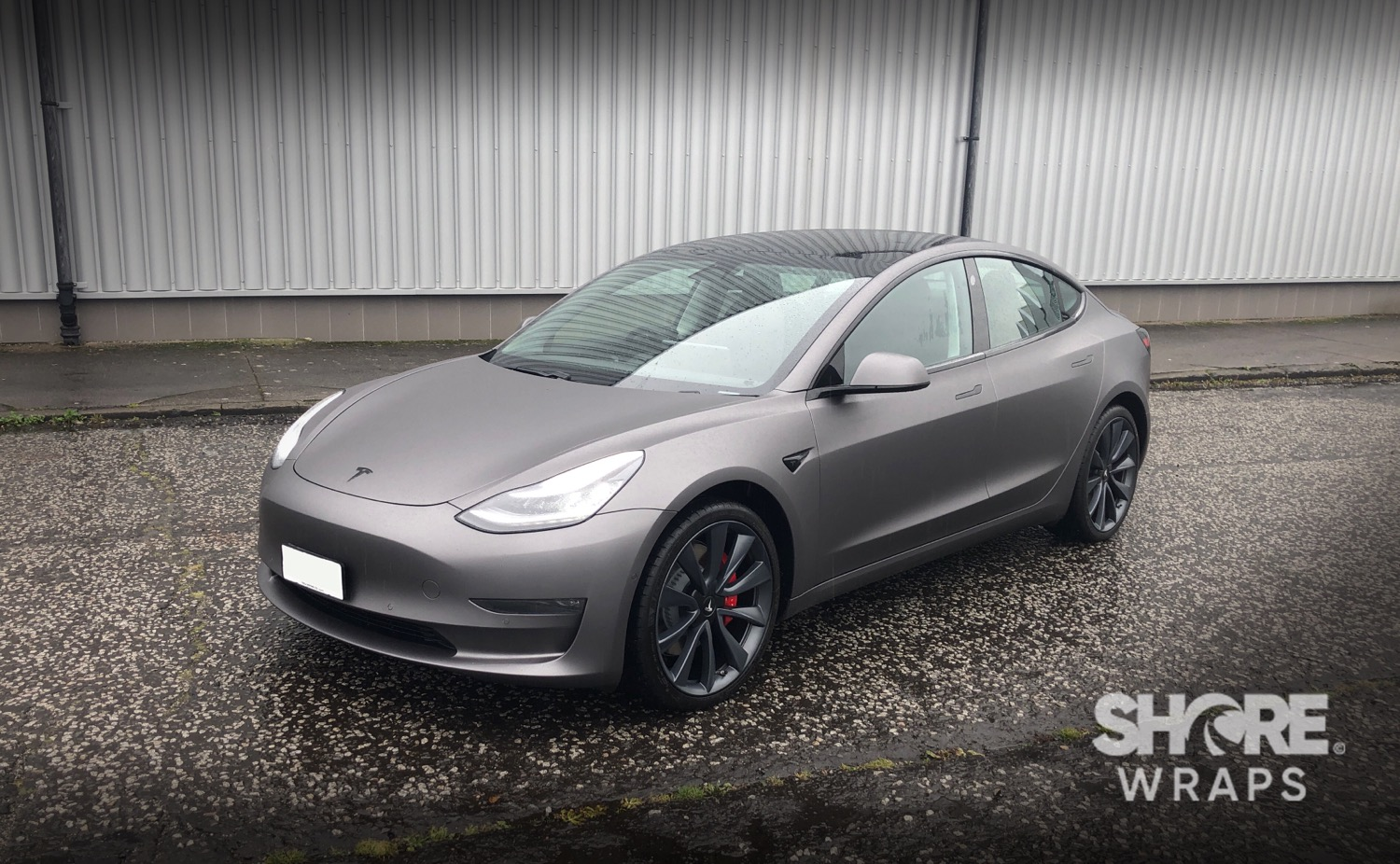 Tesla Satin Grey Wrap