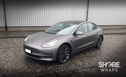 Tesla Satin Grey Wrap