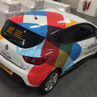 Kiltwalk printed car wrap