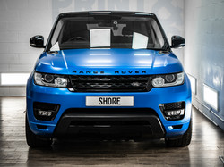 Satin Perfect Blue Range Rover Wrap