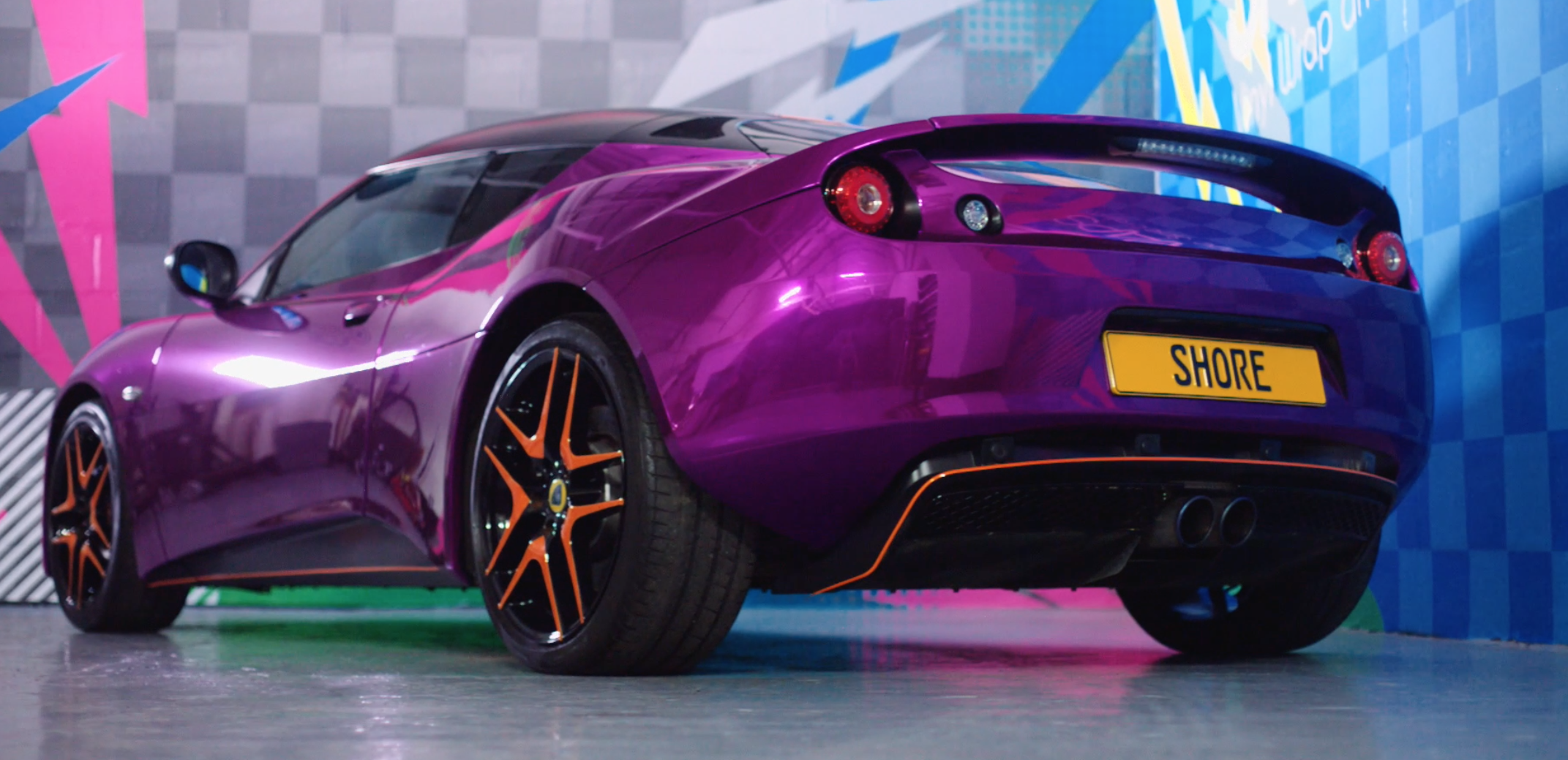 Lotus Evora Purple Chrome