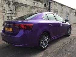 Toyota Avensis Purple wrap Rear