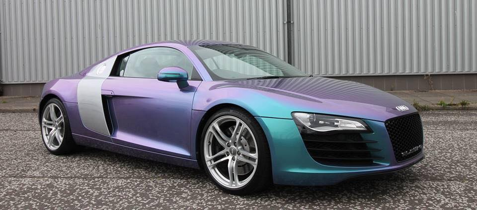 Audi R8 Oracal Lavender Wrap