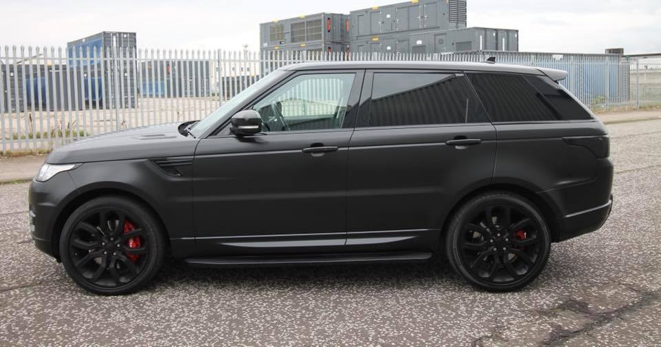 Satin Black Range Rover