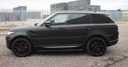 Satin Black Range Rover