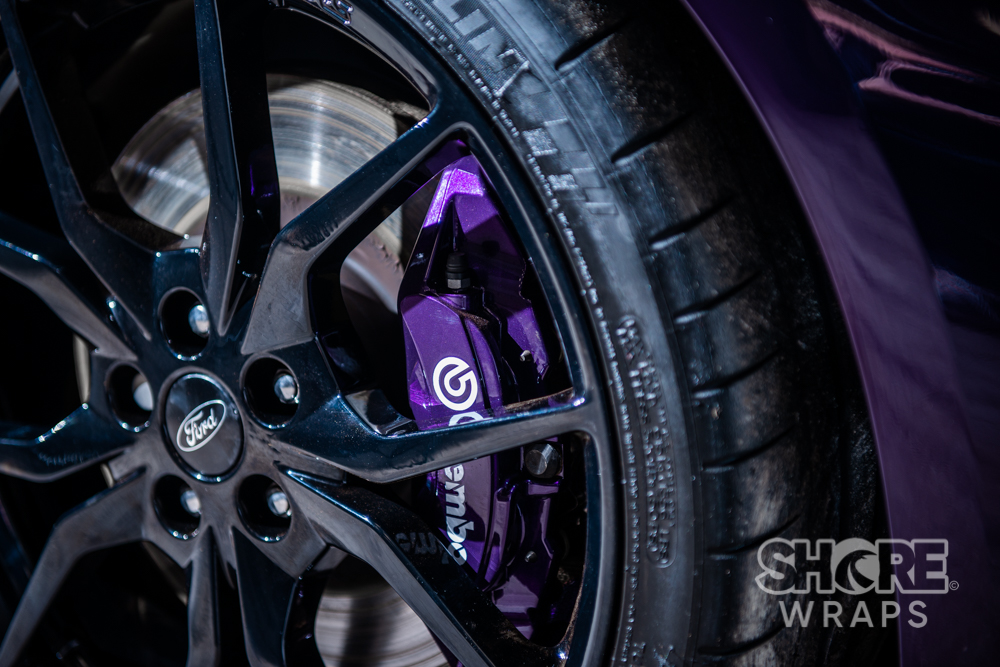 Painted Purple Calipers