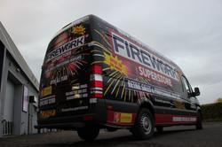 Fireworks Van Wrap