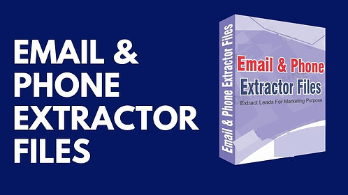 Email & Phone Extractor Files