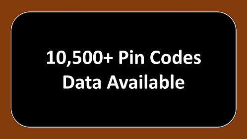 Pin Code wise Data