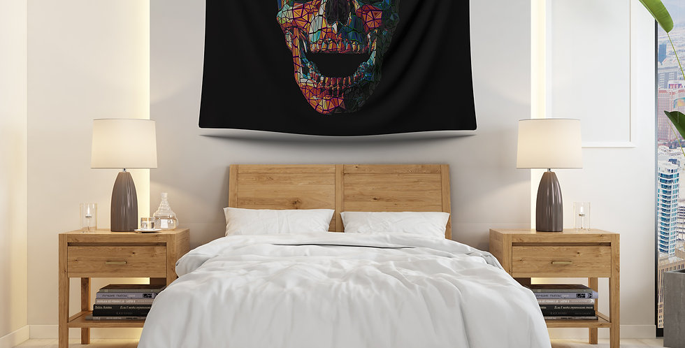 Colorful 3d Skull
