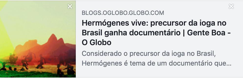 """Jornal O Globo fala do """"Hermógenes"""""""