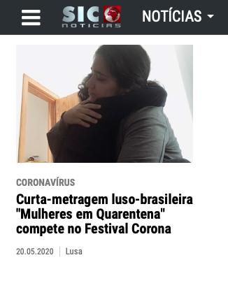 """Sic Notícias fala sobre o """"Mulheres em quarentena"""""""