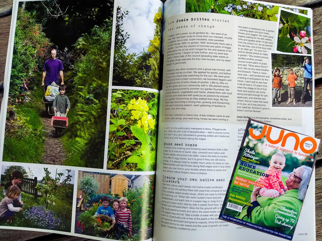 """Juno Magazine - """"Seeds of Change"""""""