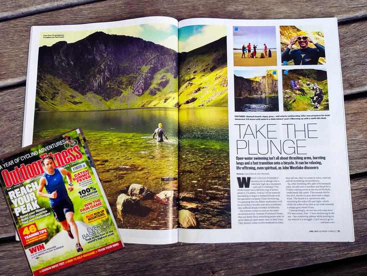 """Outdoor Fitness Magazine - """"Take the Plunge"""""""