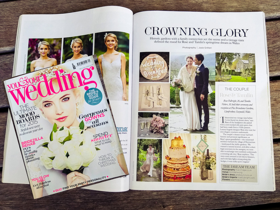 "You & Your Wedding Magazine - ""Crowning Glory"""