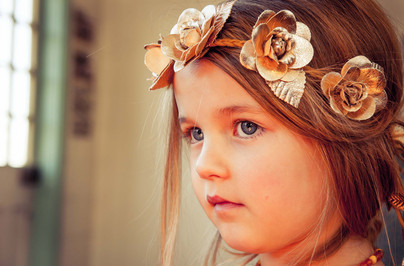 Girl with Gold headband