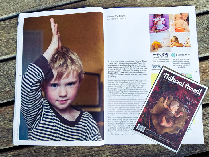 """Natural Parent Magazine - """"Sign of the Times"""""""