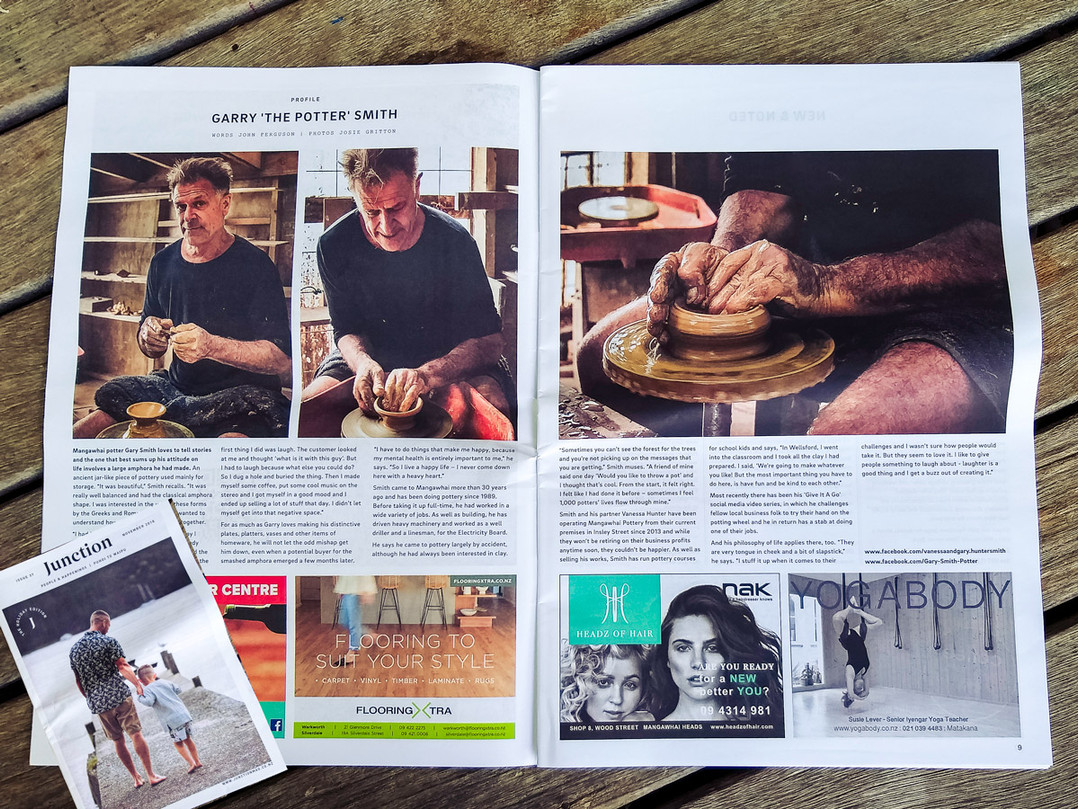 """Junction Magazine - Garry """"The Potter"""" Smith"""