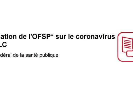 Informations en FALC sur le coronavirus. Un texte de l'Office fédéral de la santé publique (OFSP)