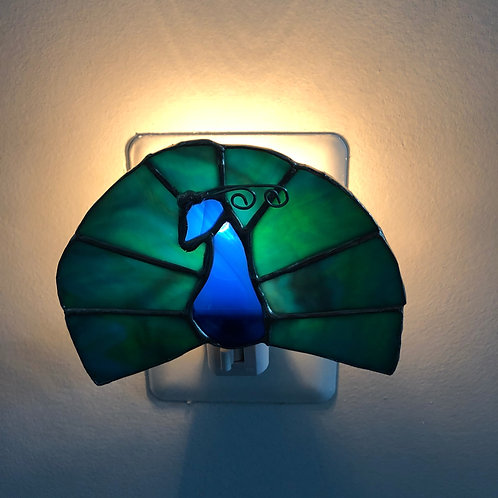 Peacock Stained Glass Nightlight