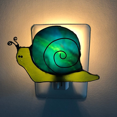 Snail Stained Glass Nightlight