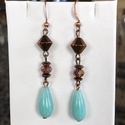 Sleeping Beauty Turquoise Dangle Earrings