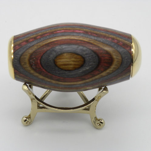 Shades of Brown & Gray Spectraply Kaleidoscope Egg