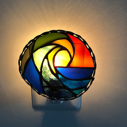 Wave Stained Glass Nightlight