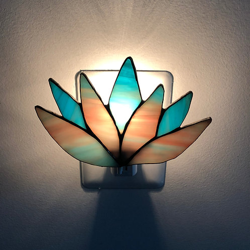 Lotus Flower Stained Glass Nightlight