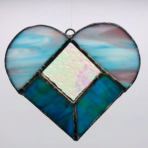 Stained Glass Heart Suncatcher