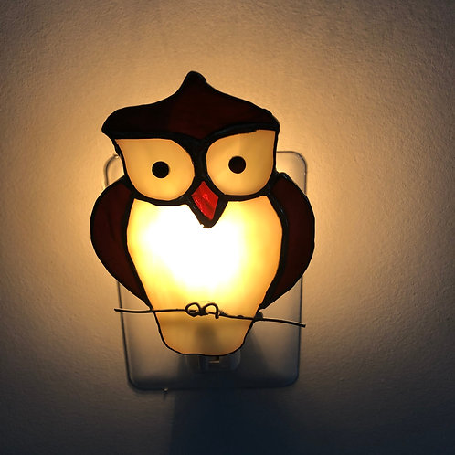 Owl Stained Glass Nightlight