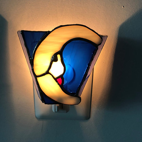 Moon Stained Glass Nightlight