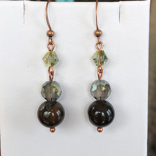 Shades of Green Agate Earrings