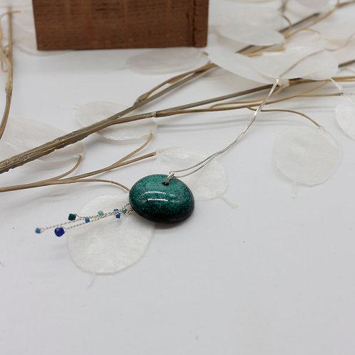 Collier méduse vert