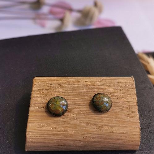 Boucles d'oreilles vert /Céladon