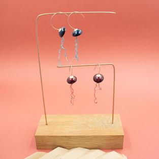Boucles d'oreilles méduse