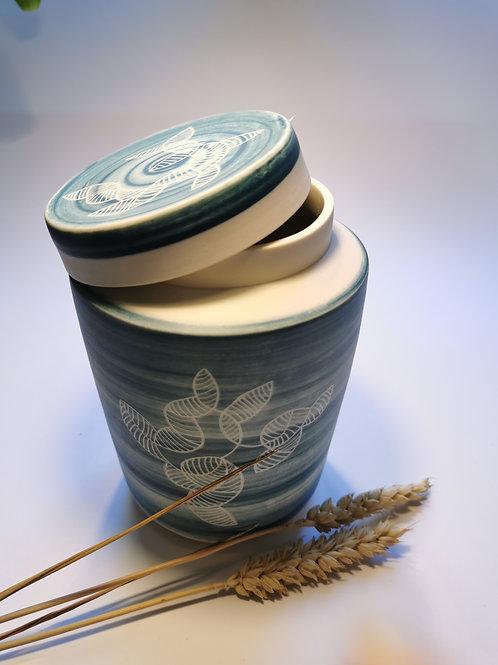 Boîte porcelaine turquoise