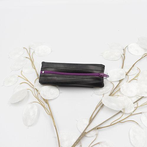 Porte-monnaie chambre à air / fermeture violet