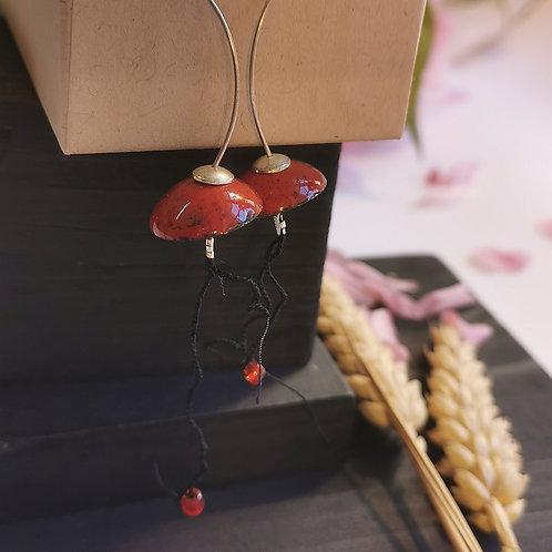 Boucles d'oreilles méduses