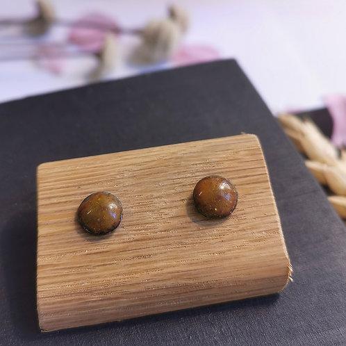Boucles d'oreilles orangé/Céladon