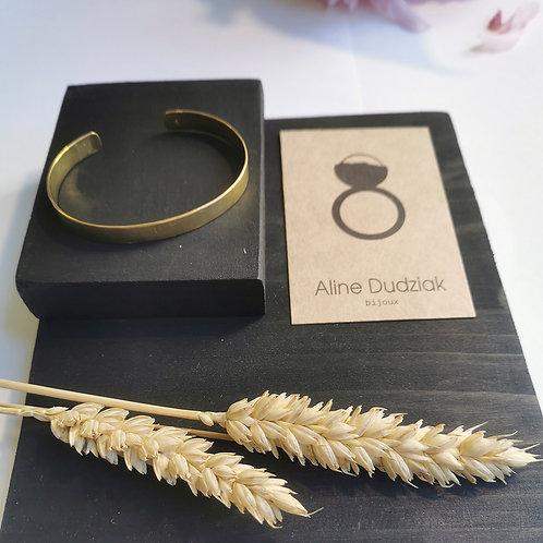 Bracelet large en laiton