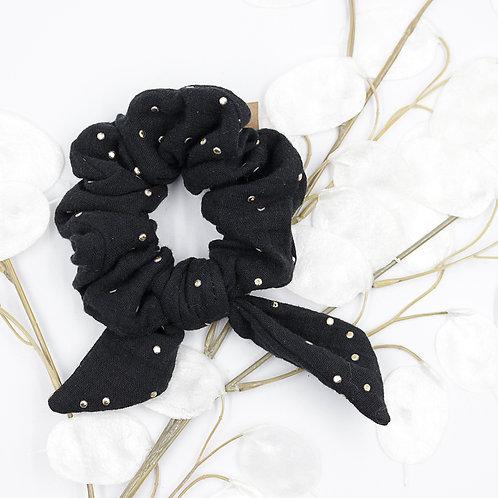 Chouchou à noeud - noir