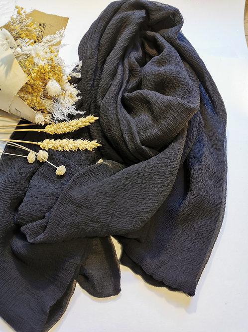 Foulard soie noir