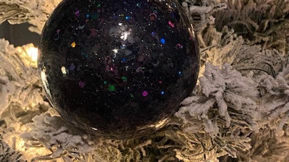 Night Fury Black Glitter Glass Christmas Ornament